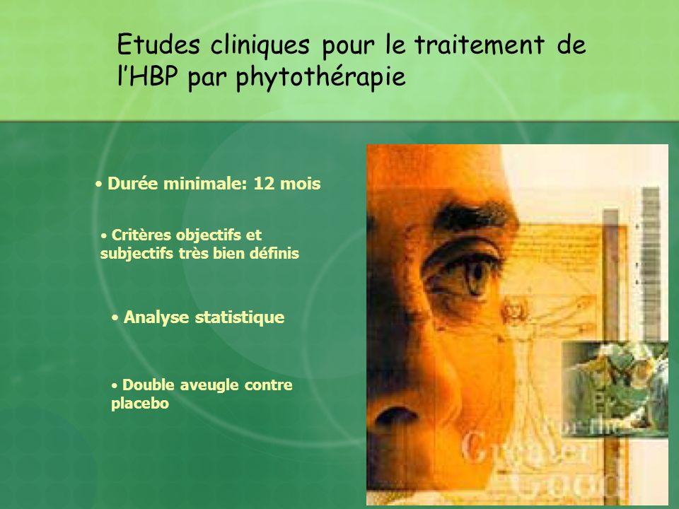 Etudes cliniques pour le traitement de l'HBP par phytothérapie