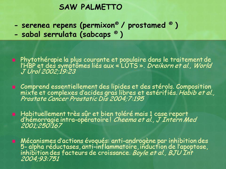 SAW PALMETTO - serenea repens (permixon® / prostamed ® ) - sabal serrulata (sabcaps ® )