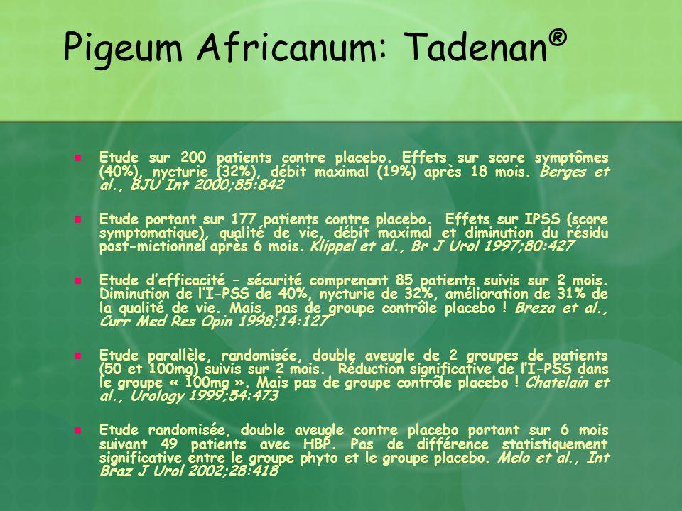Pigeum Africanum: Tadenan®
