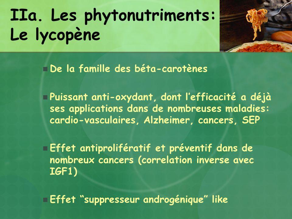 IIa. Les phytonutriments: Le lycopène