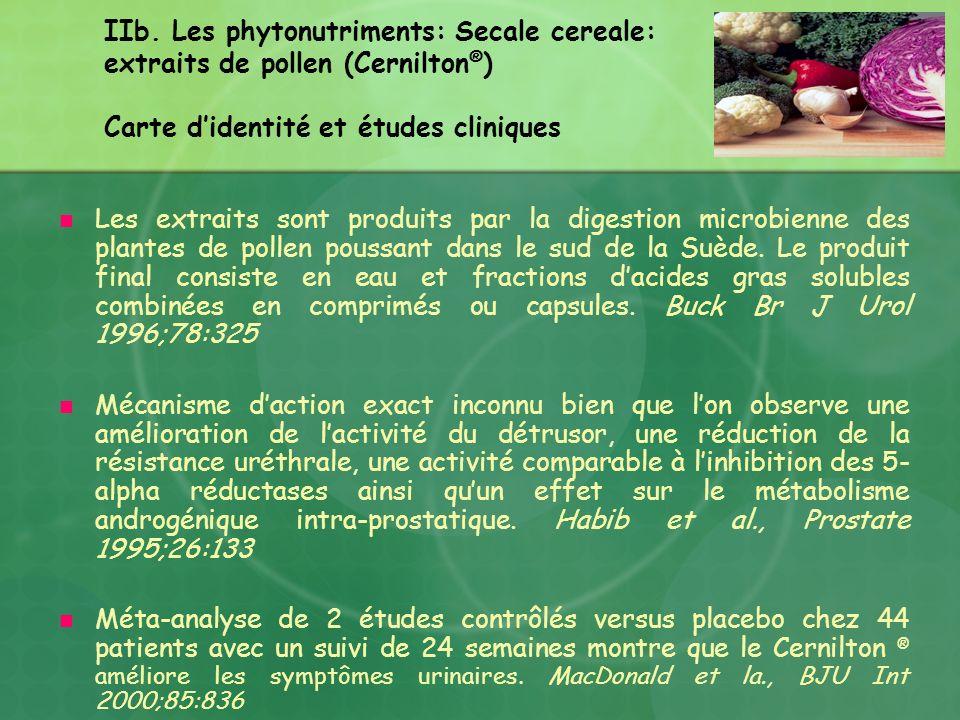 IIb. Les phytonutriments: Secale cereale: extraits de pollen (Cernilton®) Carte d'identité et études cliniques