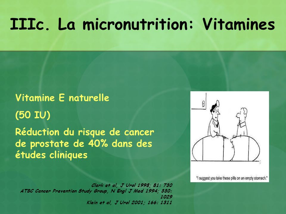 IIIc. La micronutrition: Vitamines