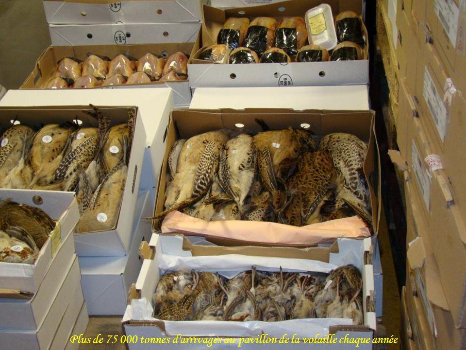 Plus de 75 000 tonnes d arrivages au pavillon de la volaille chaque année