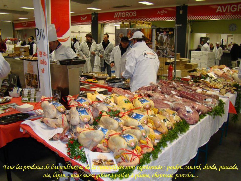 Tous les produits de l aviculture et de la cuniculture sont représentés : poulet, canard, dinde, pintade, oie, lapin...
