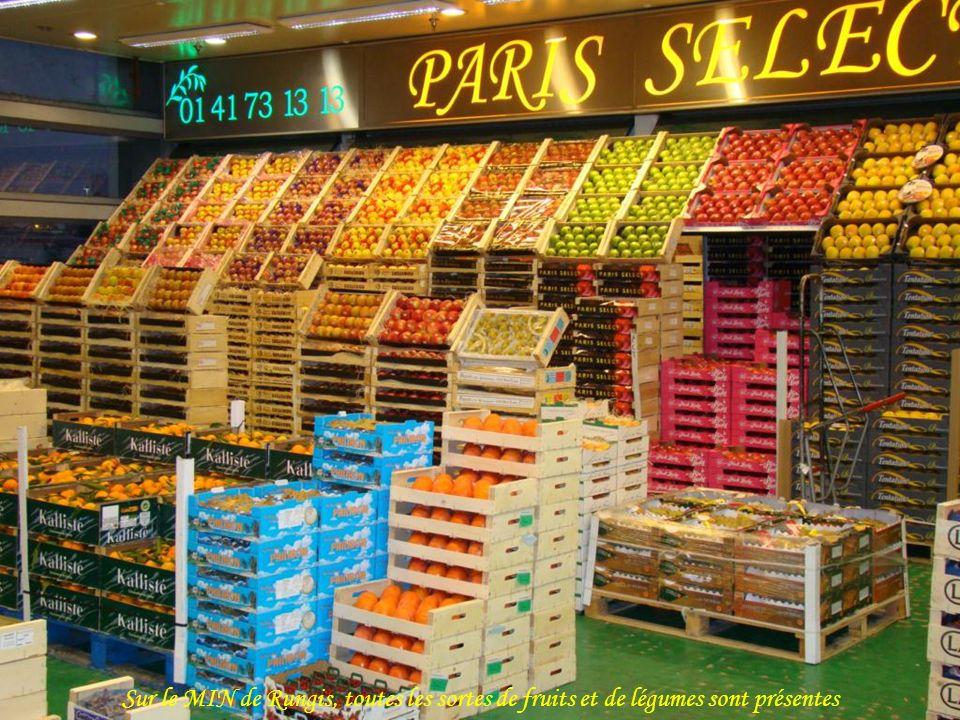 Sur le MIN de Rungis, toutes les sortes de fruits et de légumes sont présentes