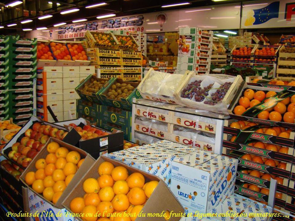 Produits de l'Ile-de-France ou de l'autre bout du monde, fruits et légumes oubliés ou miniatures…,