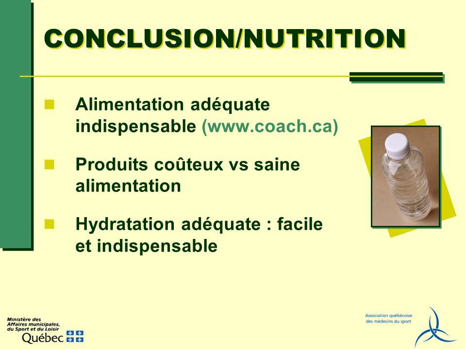 CONCLUSION/NUTRITION