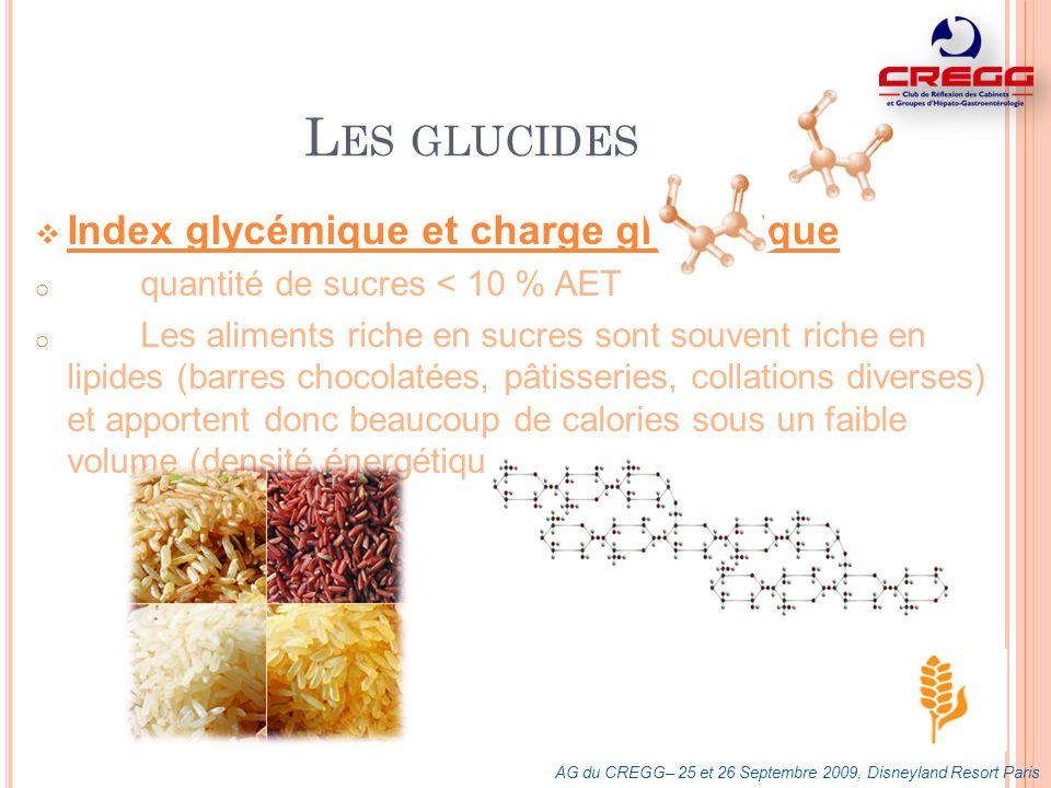 Les glucides Index glycémique et charge glycémique