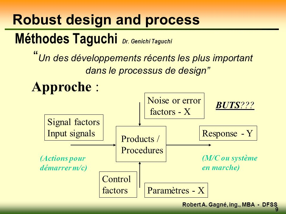 Robust design and process