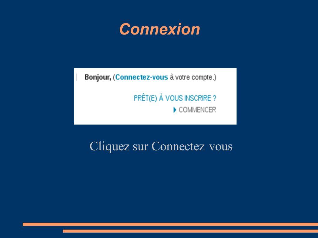 Cliquez sur Connectez vous