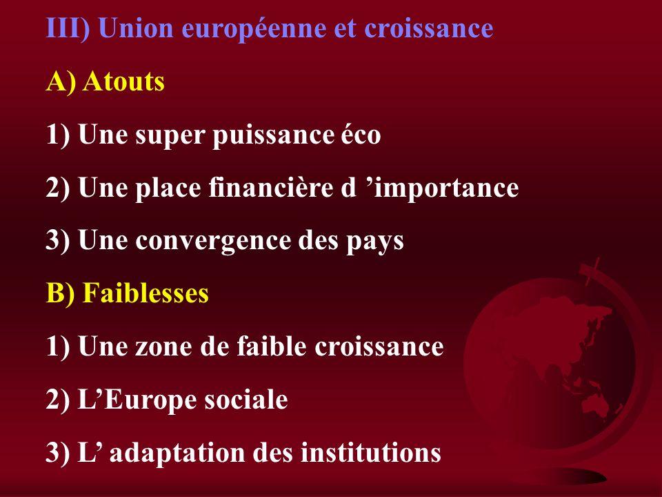 III) Union européenne et croissance