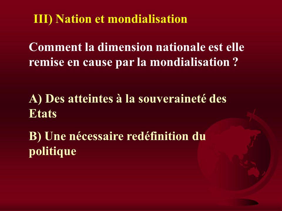 III) Nation et mondialisation