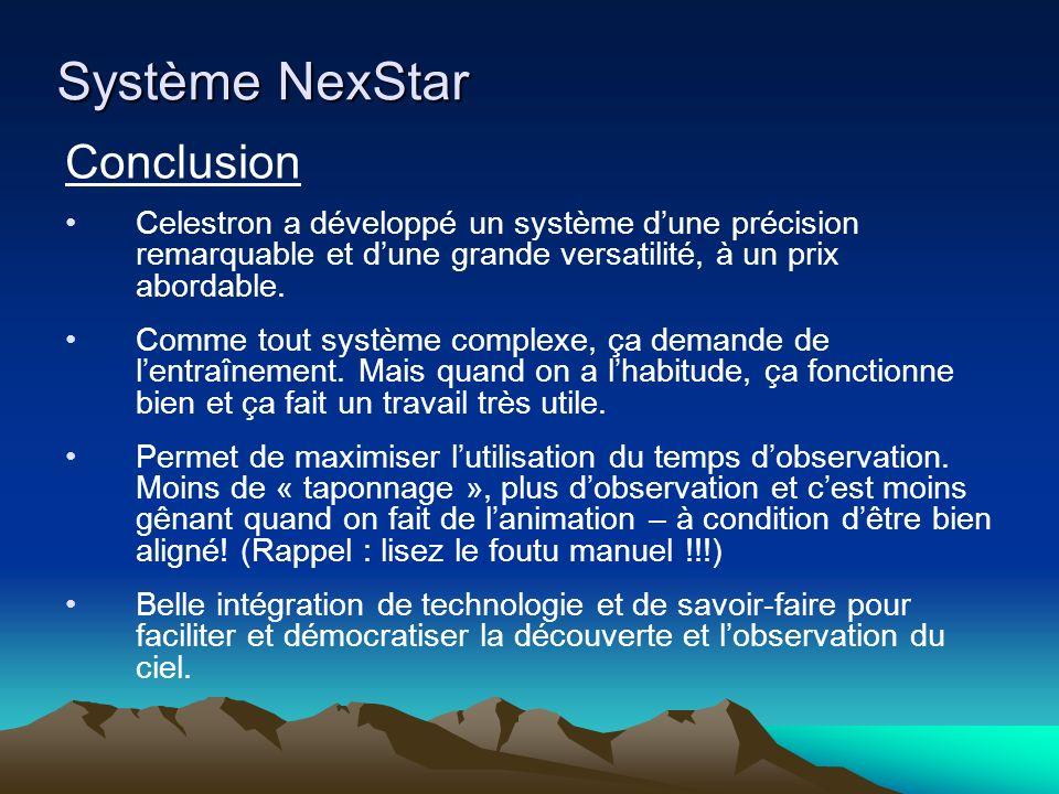 Système NexStar Conclusion
