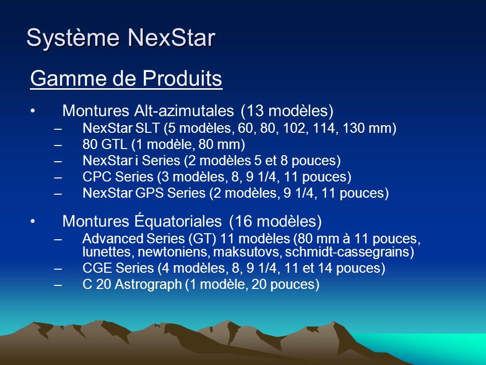 Système NexStar Gamme de Produits Montures Alt-azimutales (13 modèles)