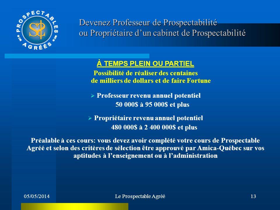 Devenez Professeur de Prospectabilité ou Propriétaire d'un cabinet de Prospectabilité