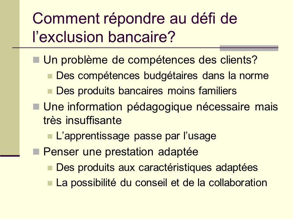 Comment répondre au défi de l'exclusion bancaire