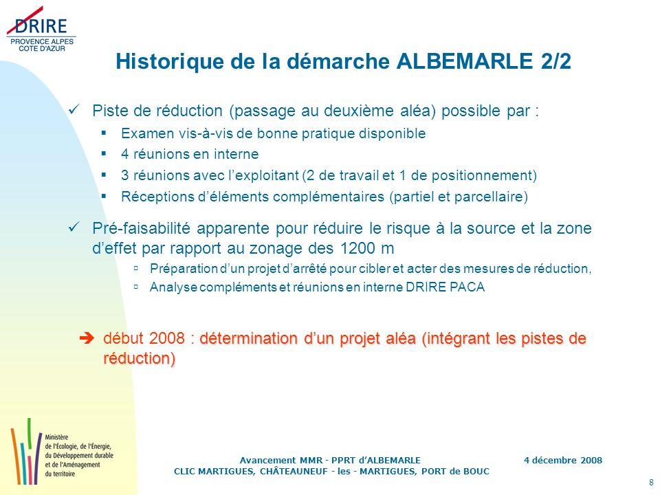 Historique de la démarche ALBEMARLE 2/2