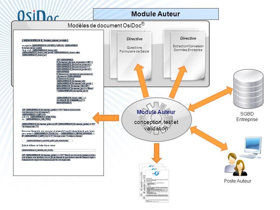 Module Auteur Modèles de document OsiDoc® Module Auteur