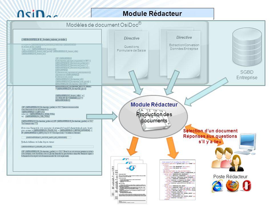 Sélection d'un document Réponses aux questions s'il y a lieu