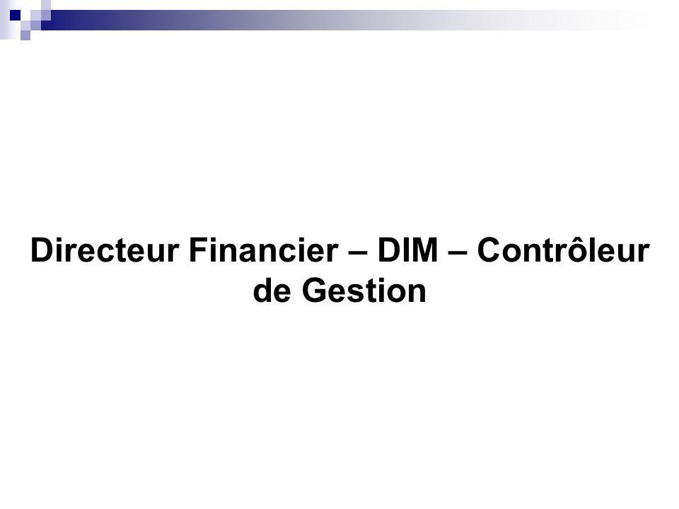 Directeur Financier – DIM – Contrôleur de Gestion
