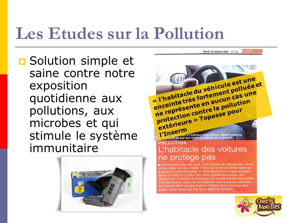 Les Etudes sur la Pollution
