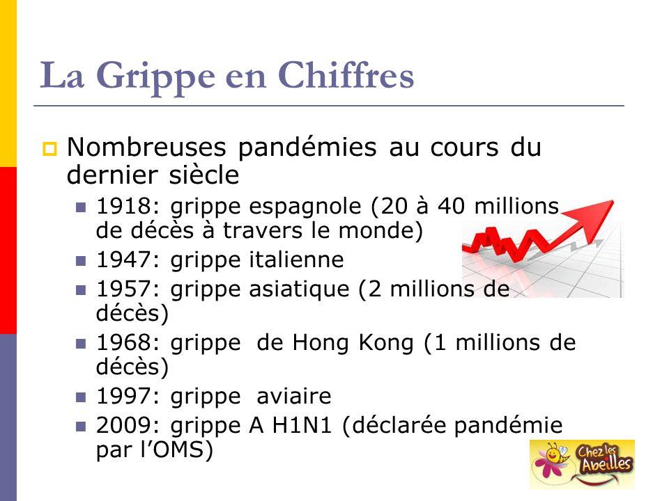 La Grippe en Chiffres Nombreuses pandémies au cours du dernier siècle