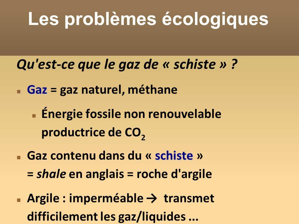 Les problèmes écologiques