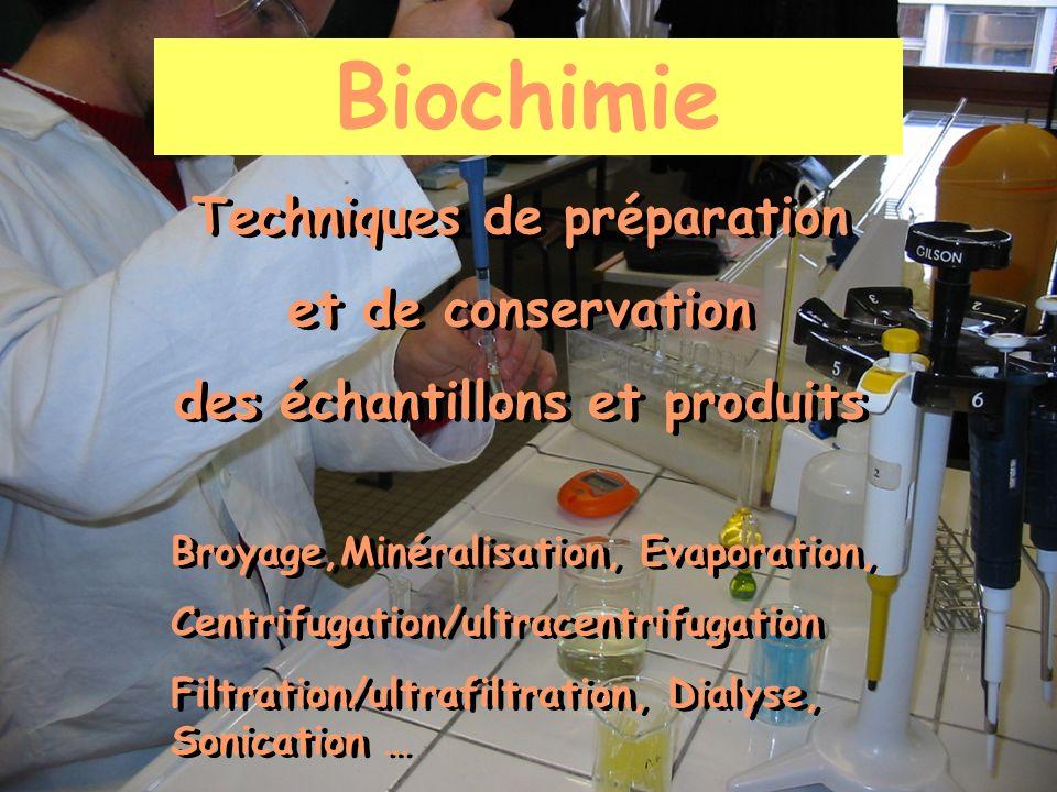 Techniques de préparation des échantillons et produits