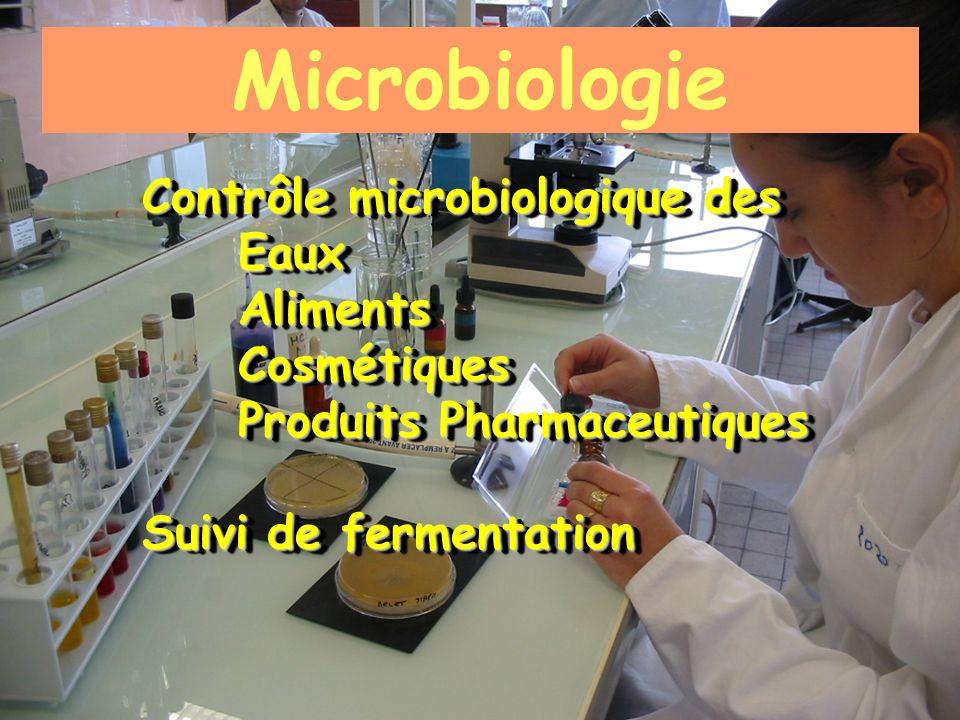 Microbiologie Contrôle microbiologique des Eaux Aliments Cosmétiques