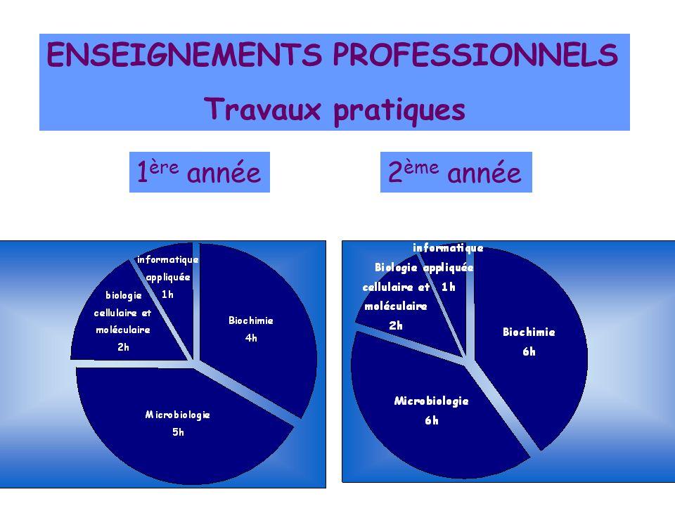 ENSEIGNEMENTS PROFESSIONNELS Travaux pratiques