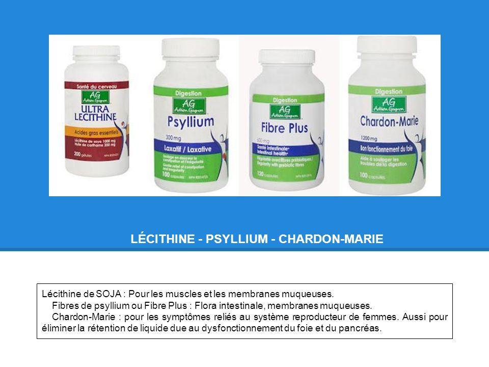 LÉCITHINE - PSYLLIUM - CHARDON-MARIE