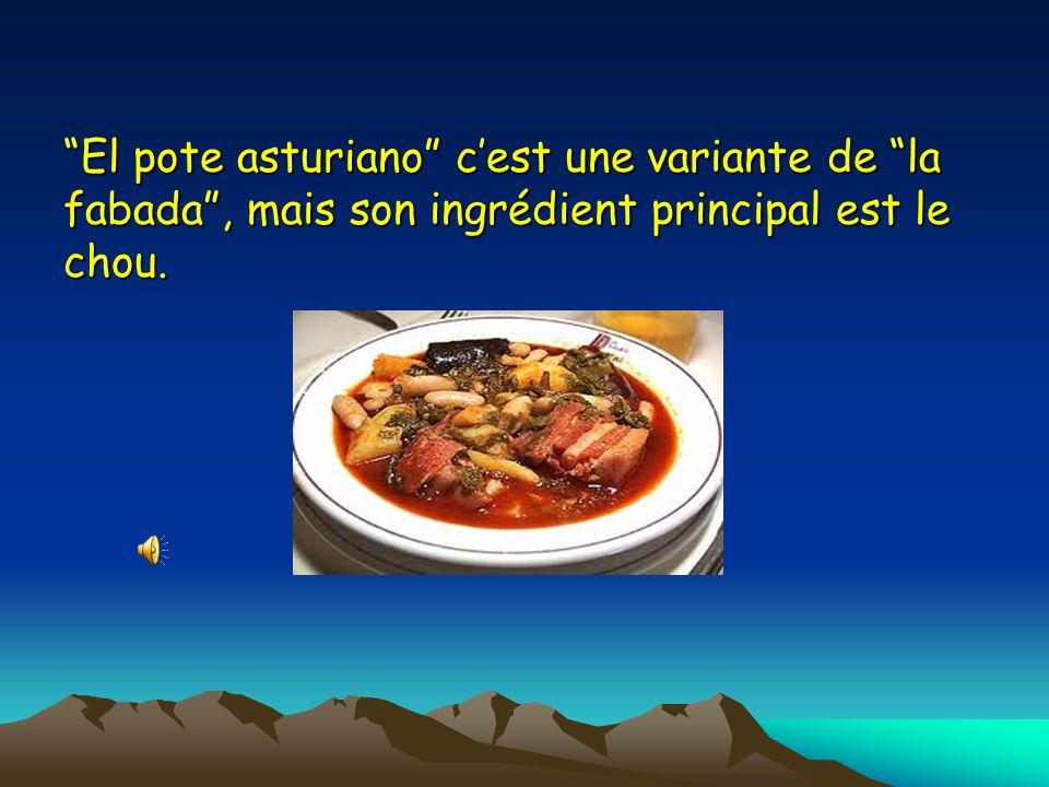 El pote asturiano c'est une variante de la fabada , mais son ingrédient principal est le chou.