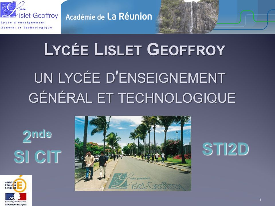 Lycée Lislet Geoffroy 2nde SI CIT STI2D