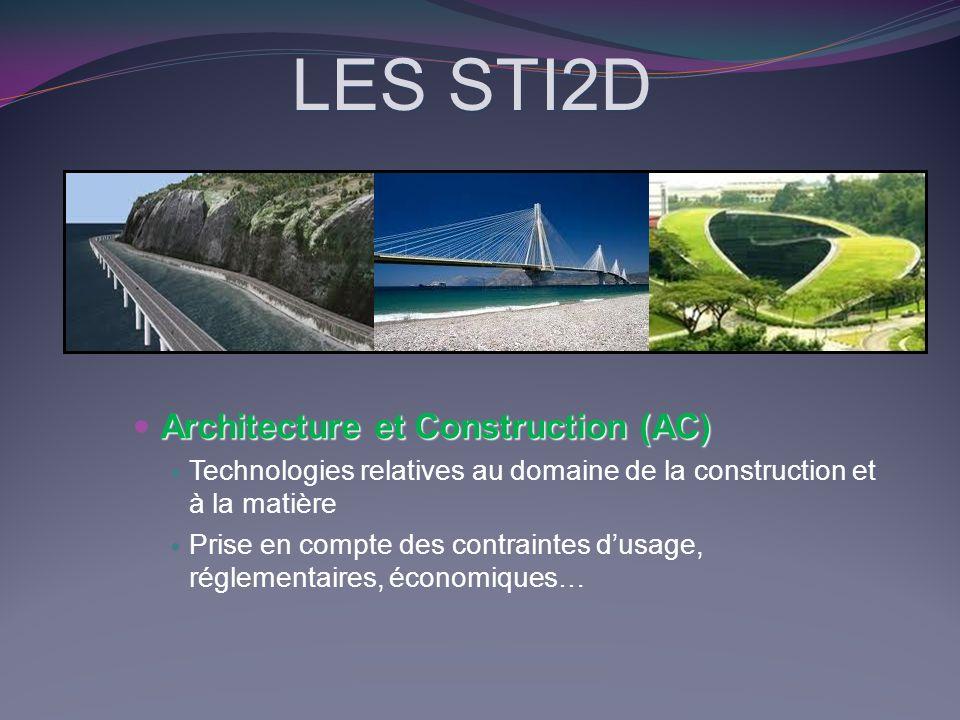 LES STI2D Architecture et Construction (AC)