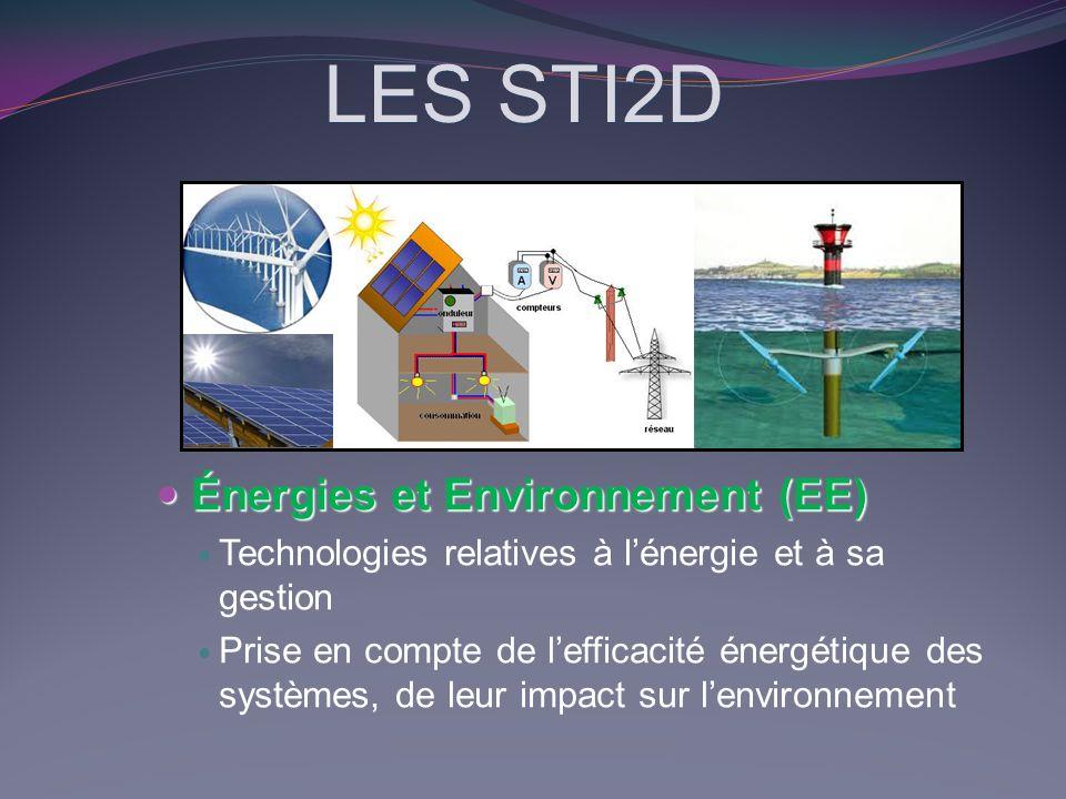 LES STI2D Énergies et Environnement (EE)