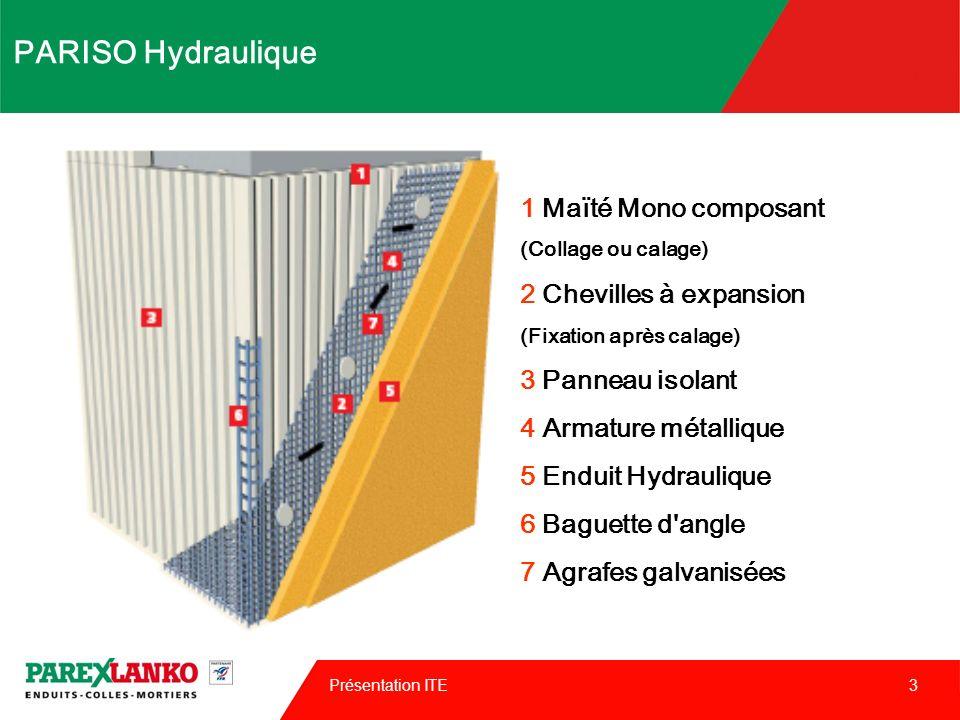 PARISO Hydraulique 1 Maïté Mono composant 2 Chevilles à expansion