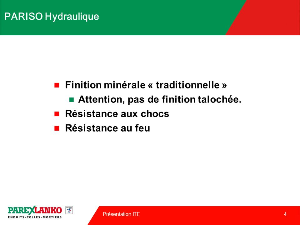 Finition minérale « traditionnelle »