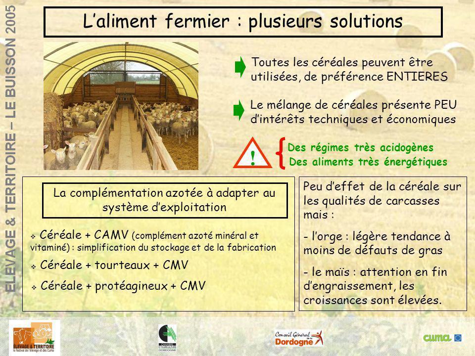 ! L'aliment fermier : plusieurs solutions