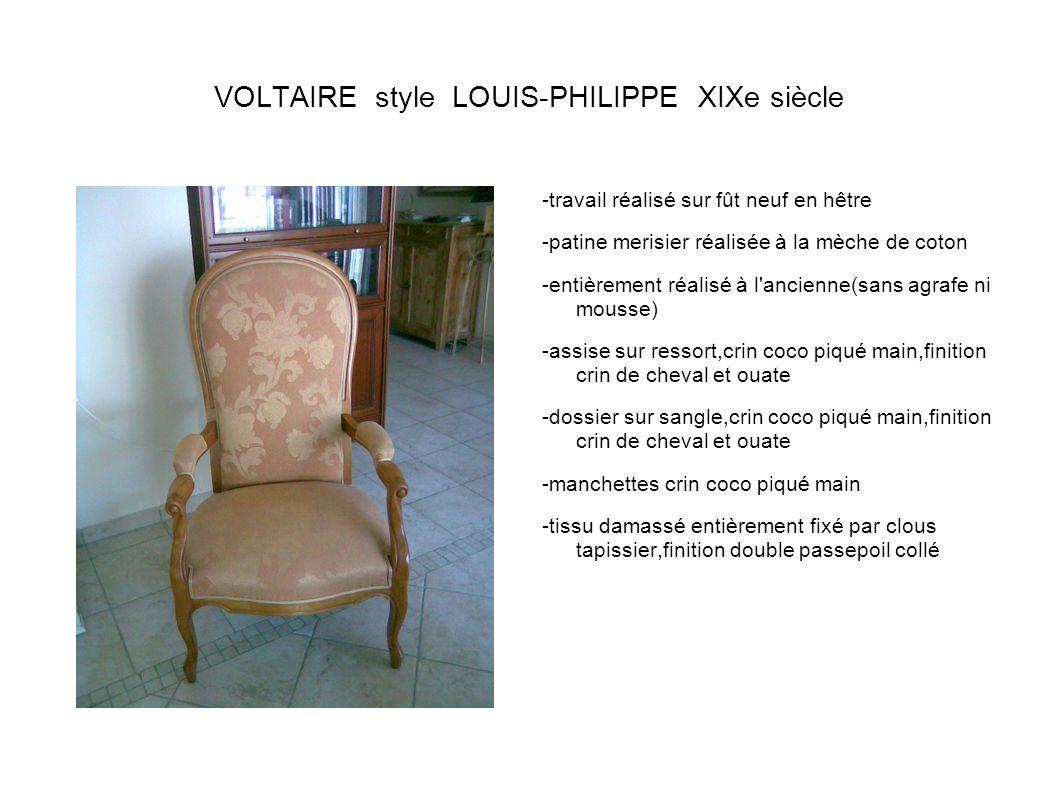 VOLTAIRE style LOUIS-PHILIPPE XIXe siècle