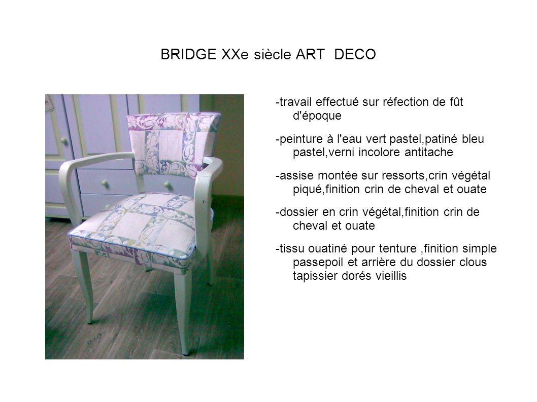 BRIDGE XXe siècle ART DECO