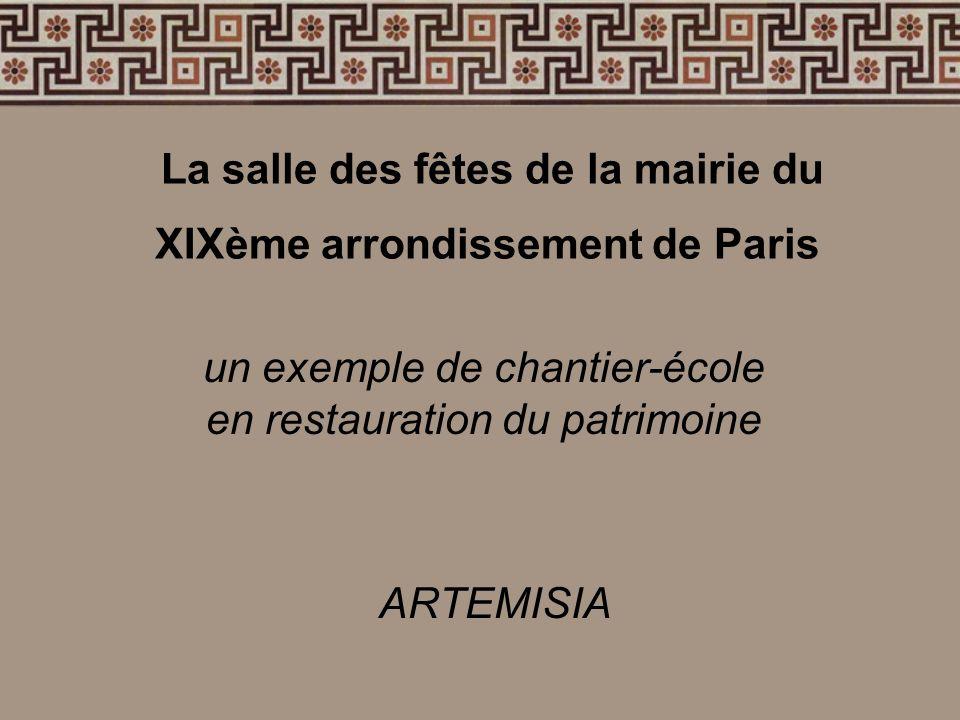 La salle des fêtes de la mairie du XIXème arrondissement de Paris