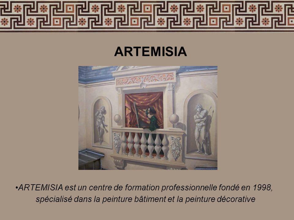 ARTEMISIA ARTEMISIA est un centre de formation professionnelle fondé en 1998, spécialisé dans la peinture bâtiment et la peinture décorative.