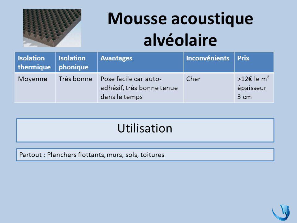 Mousse acoustique alvéolaire
