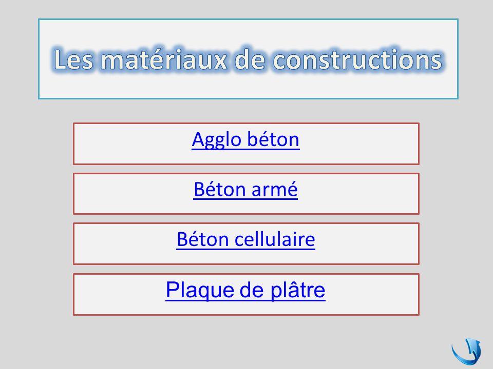 Les matériaux de constructions