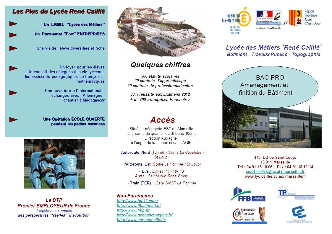 Accès Quelques chiffres Les Plus du Lycée René Caillié