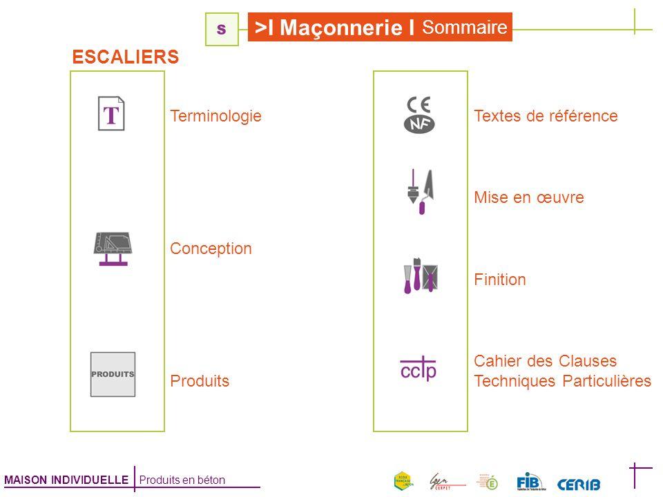 Sommaire ESCALIERS Terminologie Textes de référence Mise en œuvre