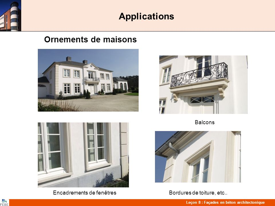 Applications Ornements de maisons Balcons