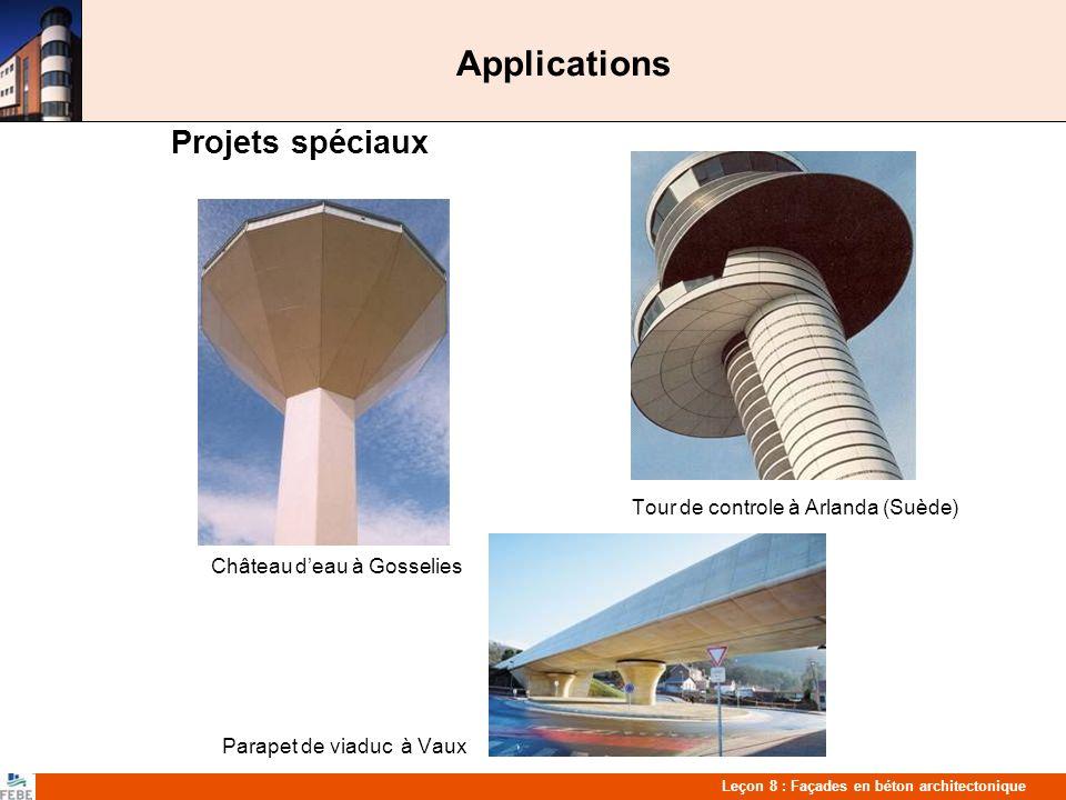 Applications Projets spéciaux Tour de controle à Arlanda (Suède)