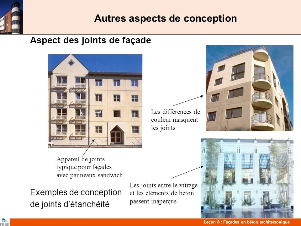 Autres aspects de conception