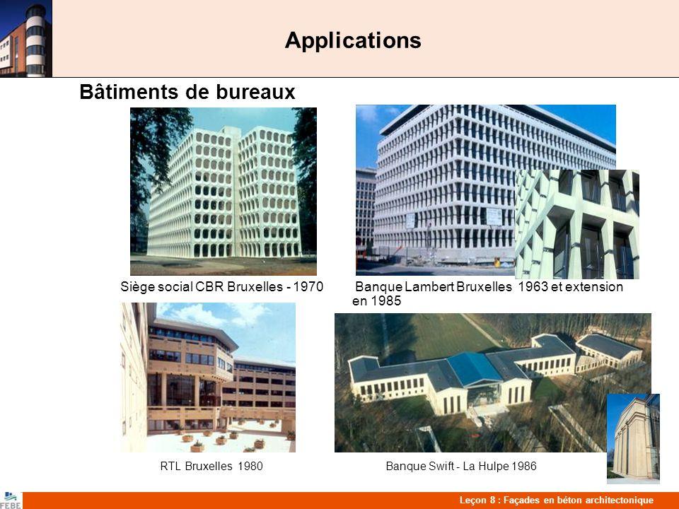 Applications Bâtiments de bureaux